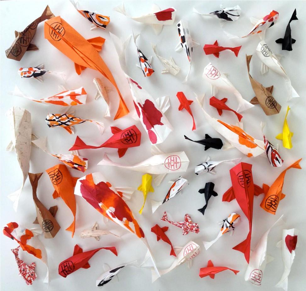 Origami Koi Fish Juergen Katzenberger